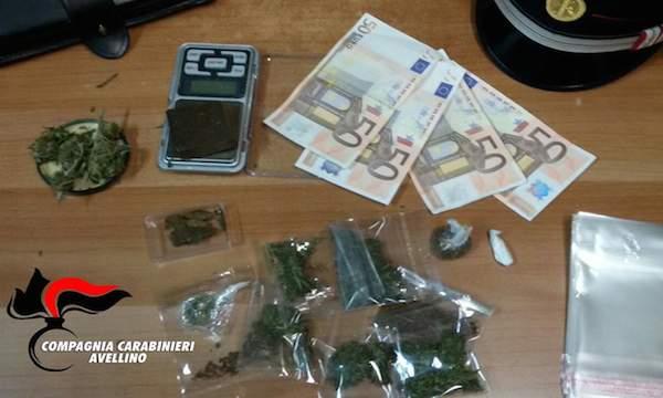 Droga e banconote false a Manocalzati, un arresto