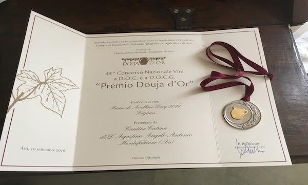 I Bianchi d'Irpinia si fanno largo in Piemonte, premiato il Fiano di Catena