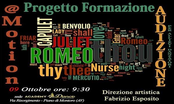 Progetto Formazione @Motion, audizioni per Romeo & Giulietta
