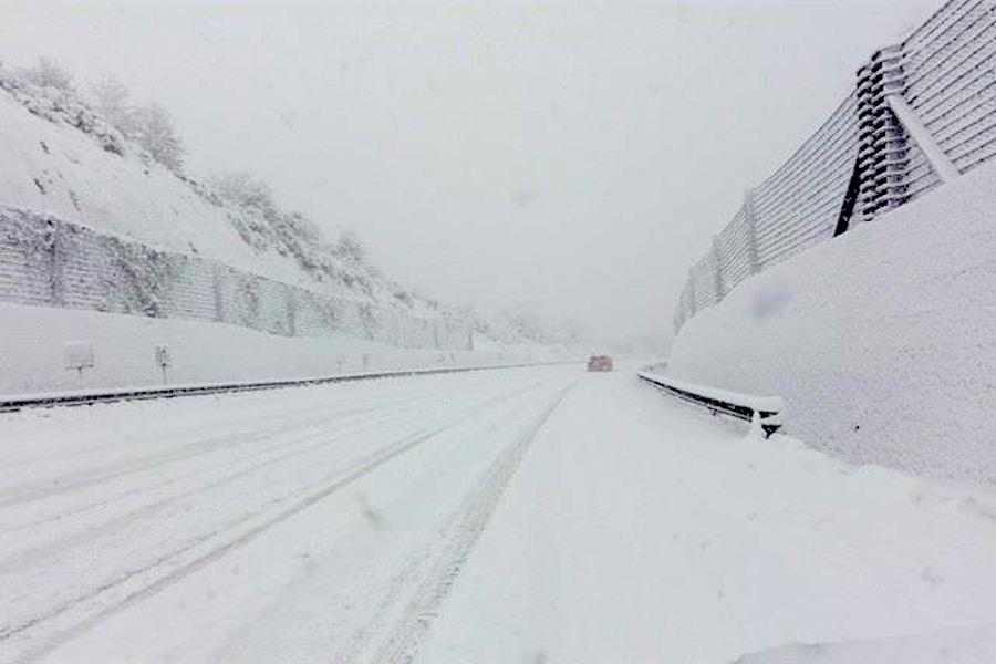 Neve anche a bassa quota, nuova allerta per l'Irpinia
