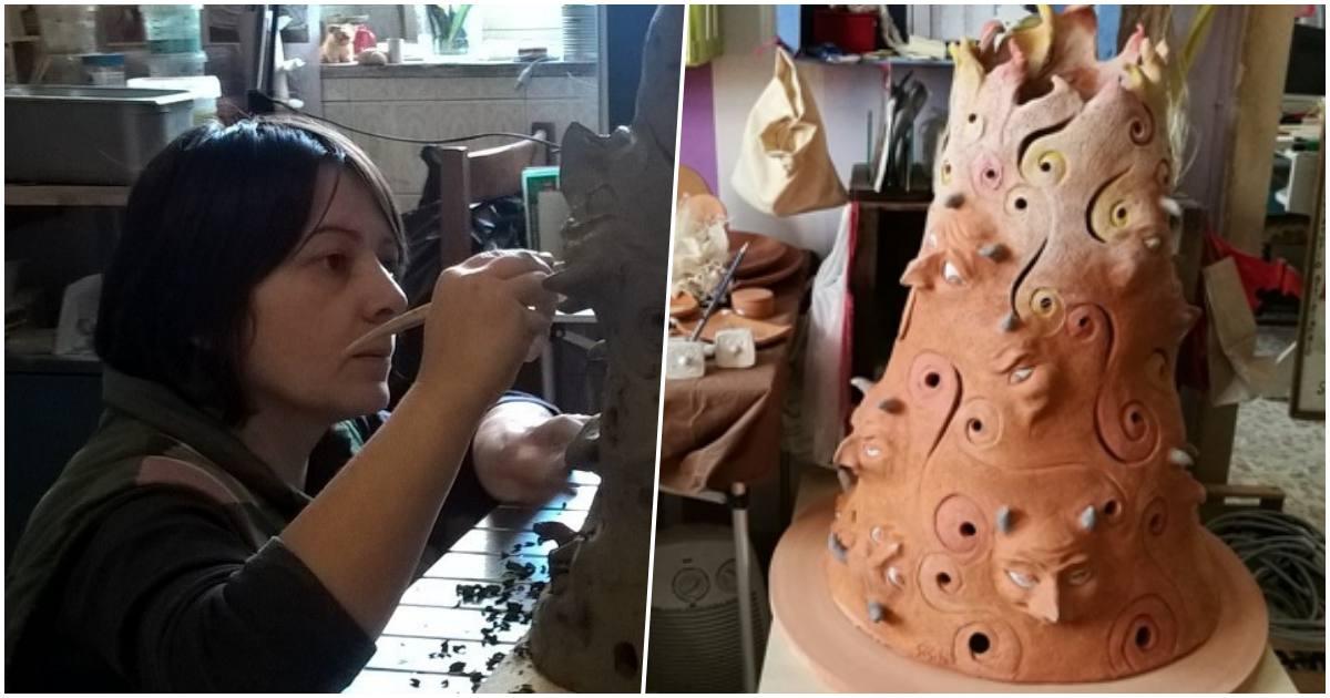 Legno e ceramica a Nusco: nel laboratorio di Simona
