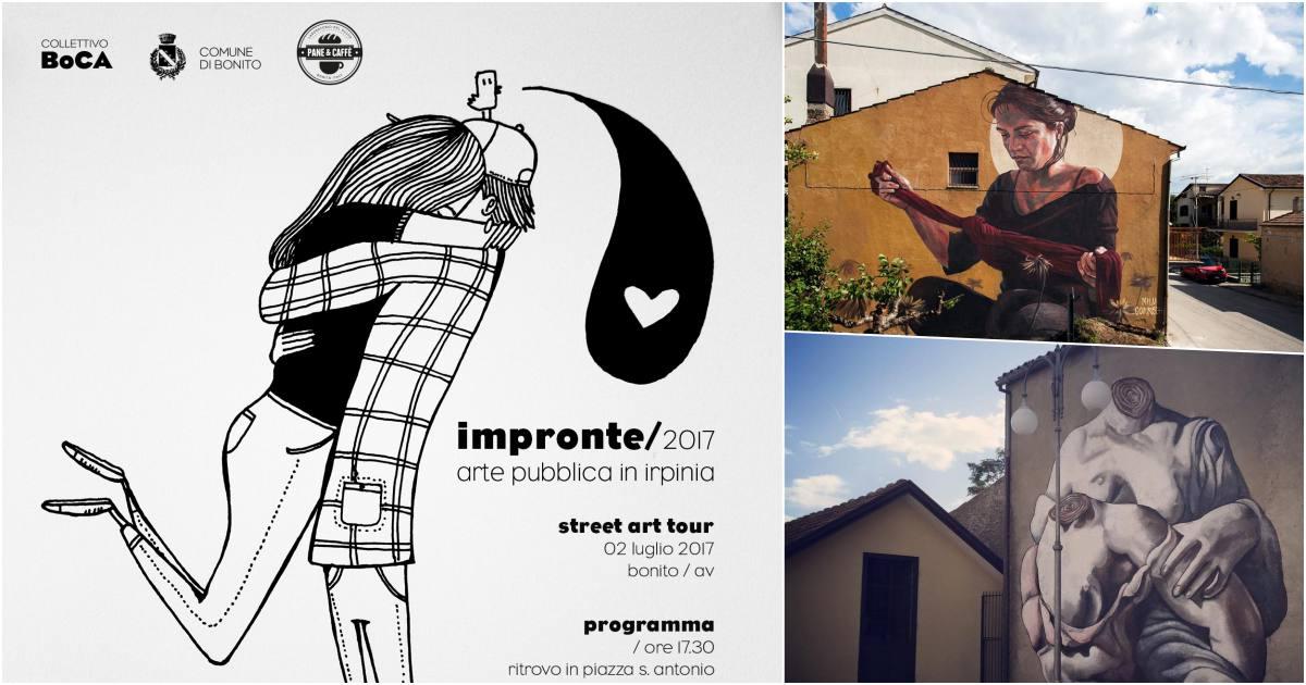 Bonito colorata, con uno street art tour ricomincia il festival Impronte