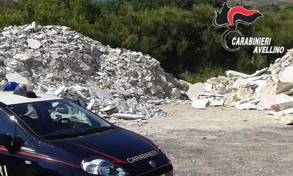 Bitume e scarti di pietra, sequestrata discarica abusiva in valle Ofanto