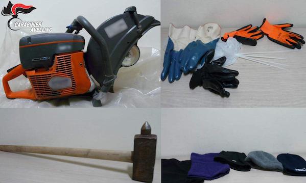 Atripalda: tentano furto in gioielleria, arrestati dai carabinieri