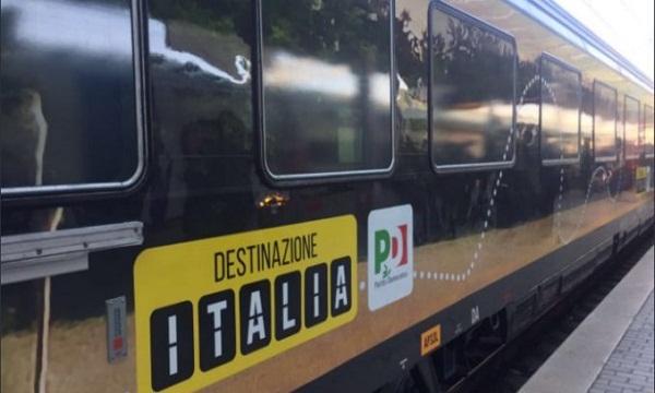 Renzi in treno, ma giovedì e in Valle Ufita