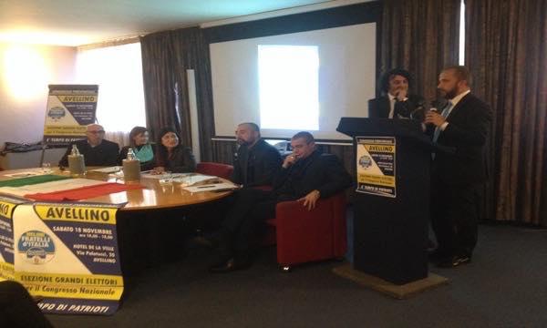 Congresso Fratelli d'Italia: 'Faremo vincere la destra anche in Irpinia'