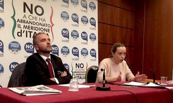 'Cinque anni senza risultati per il Sud', FdI lancia la sfida in Irpinia