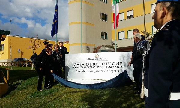 Carcere Sant'Angelo, omaggio agli agenti del sisma