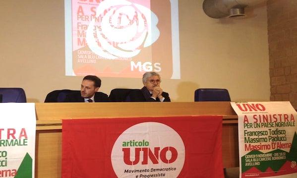 D'Alema ad Avellino: 'Unità Sinistra, Pd faccia sapere'