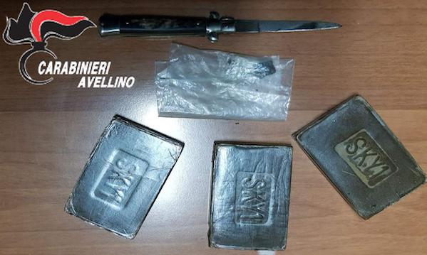 Grottaminarda: lotta alla droga, 300 grammi di hashish nel giubbotto di un giovane