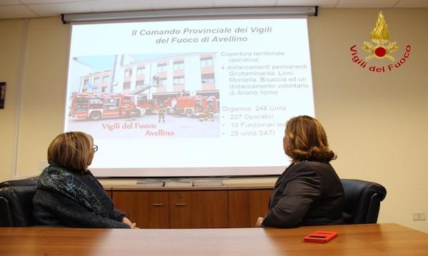 Vigili Del Fuoco, la visita del Prefetto Maria Tirone
