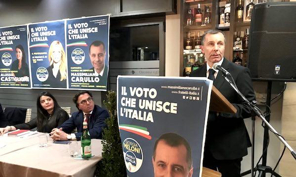 Ecco Fratelli d'Italia: 'Carullo uomo della gente'