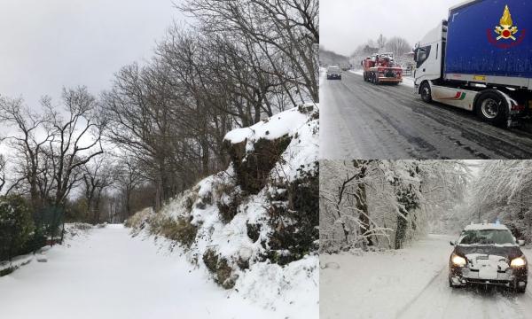 Neve in Irpinia, dopo i disagi situazione sotto controllo