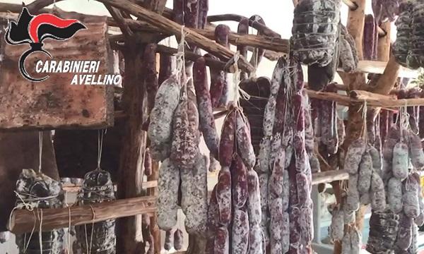 Solofra: sequestrati quattro quintali di insaccati e formaggi