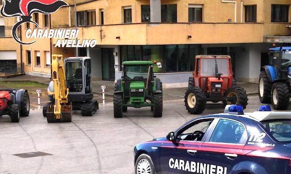 Furti ad agricoltori, sgominata la banda tra Montella e Lioni