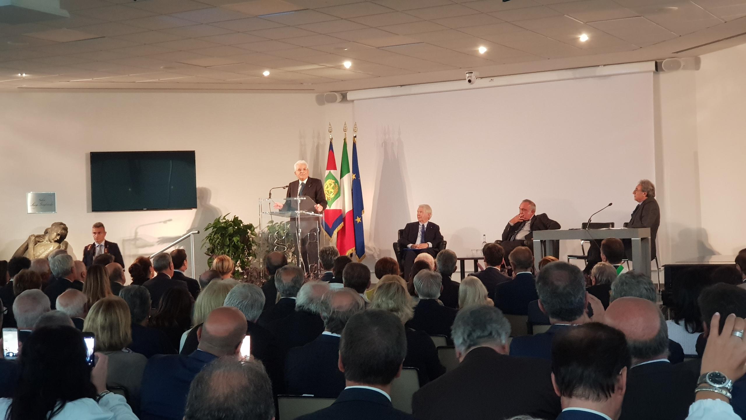 Mattarella ad Ariano Irpino: 'Biogem semina cultura'