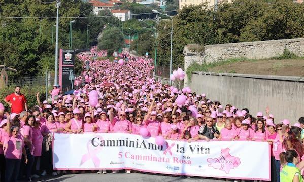 VI Camminata rosa, nuova data: è il 29 settembre