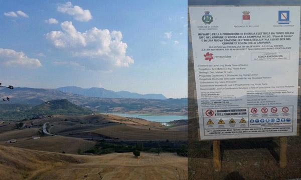 Eolico sul lago, Conza e Sant'Andrea: 'Il Wwf batta un colpo'