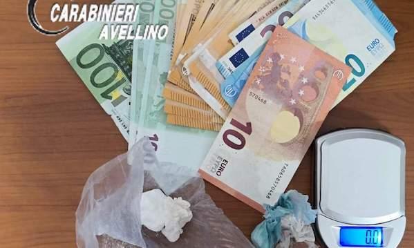 Grottaminarda: 27enne fermato con contanti e cocaina