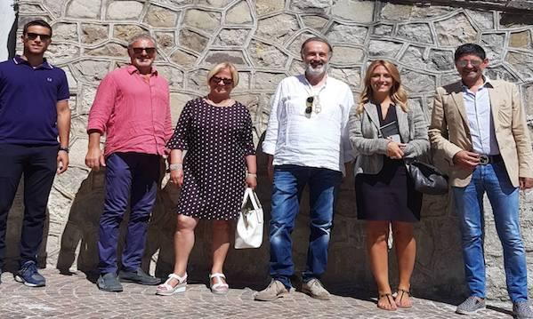 Masterclass di Cairano, D'Amelio e Marciani in visita nel borgo