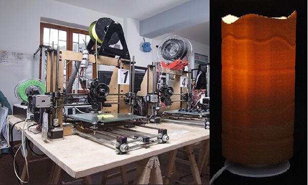 Dune, dall'Irpinia la nuova lampada alla canapa firmata 3DRap