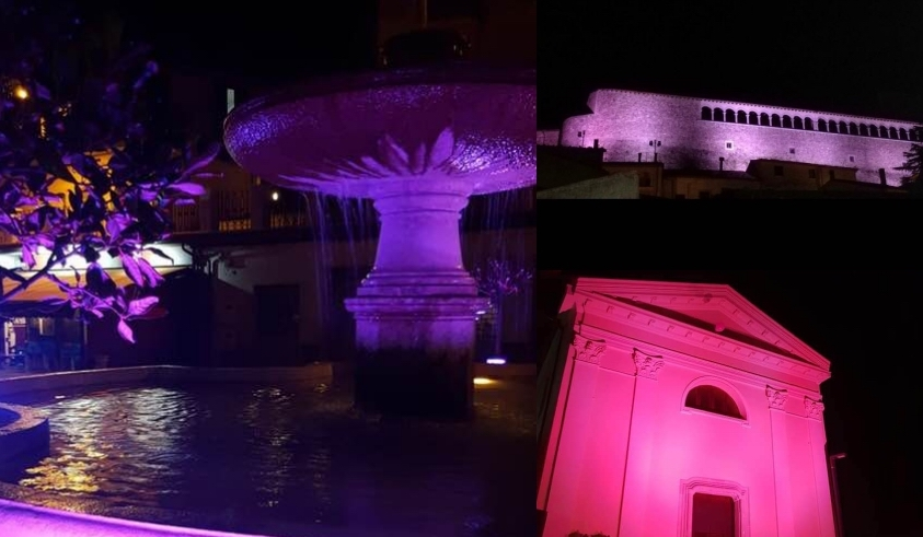 Alta Irpinia illuminata di rosa, un sì alla prevenzione