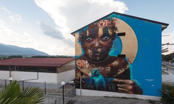 Street Art, 'passanti' a Lioni: terminata l'edizione 2018 di Bagout