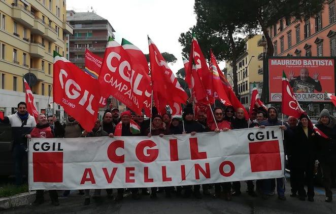 """Cgil irpina a Roma, Fiordellisi: """"Servono investimenti in infrastrutture"""""""