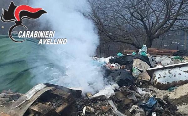Combustione illecita di rifiuti, una denuncia a Nusco e intervento dell'Arpac