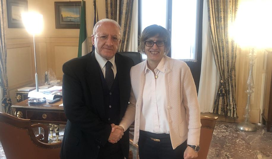 Incontro tra De Luca e Bongiorno, ad aprile bando per assunzioni in Campania