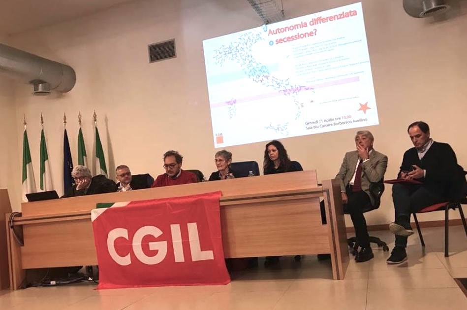 """Cgil ad Avellino: """"Autonomia differenziata, si torni indietro"""""""