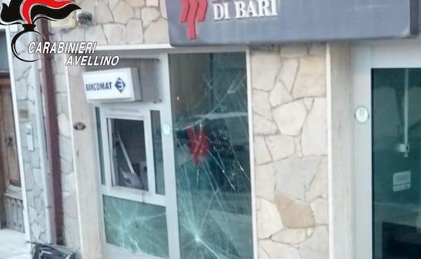Andretta: esplosione all'alba, attacco al bancomat