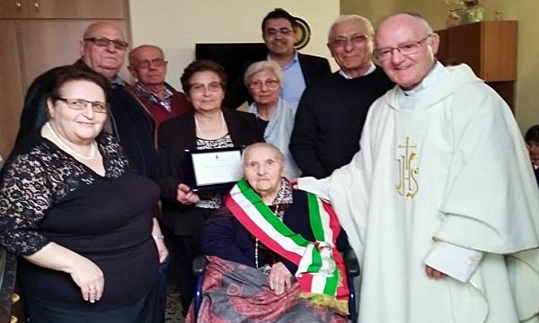 Sant'Andrea di Conza, cento anni per la signora Maria Rosaria