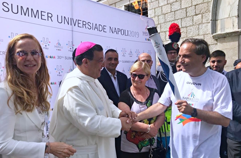 Universiade 2019, a Montevergine la fiaccola dell'aggregazione