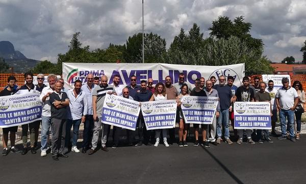 Protesta Lega Giovani in Irpinia contro il Governo e De Luca