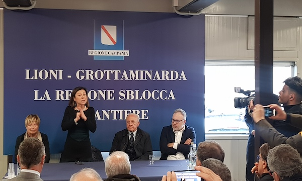 Lioni-Grottaminarda, il ministro visita il cantiere