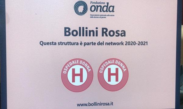 Salute della donna: il 'Moscati' premiato con due Bollini Rosa