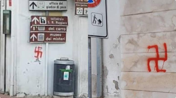 Mirabella Eclano ricoperta da svastiche, indagano i carabinieri