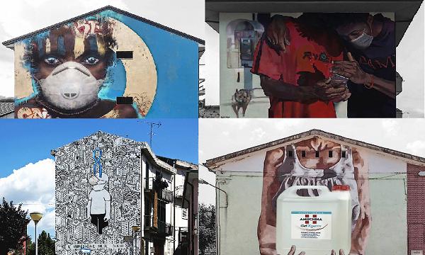 Dai murales di Lioni a Irpinia Paranoica, ironia scaccia coronavirus