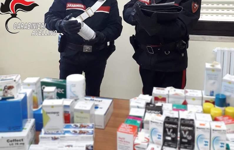 Farmaci sequestrati tra Montella e Lioni, denunciato commerciante