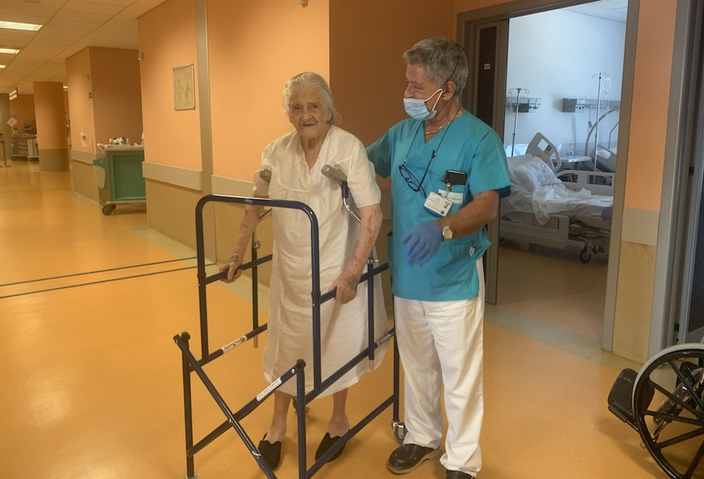 Operata al Moscati a 101 anni, nonna Iolanda torna a casa