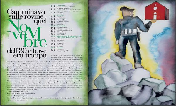 Calendario e agenda dell'Arma 2021: Pinocchio, Dante e Terremoto Irpinia