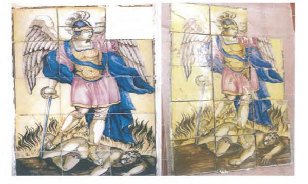 Pannello di San Michele rubato 7 anni fa a Contrada: i carabinieri lo ritrovano