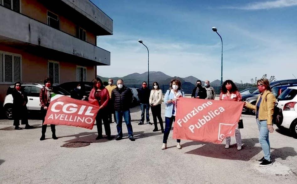 Nusco, la protesta della Rsa